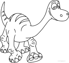 good dinosaur disney coloring pages wecoloringpage