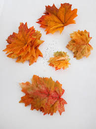 dress up your autumn table with fall leaves hgtv