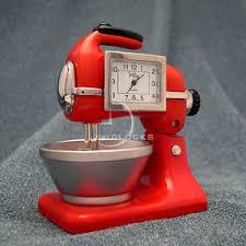 Mini Kitchen Aid Mixer by Mini Clocks Red Mixer Kitchen Aid Miniature Clock Ebay I