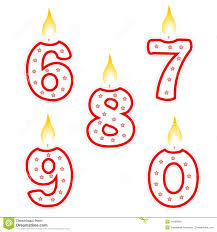 number birthday candles birthday candle stock vector illustration of celebration 14569808
