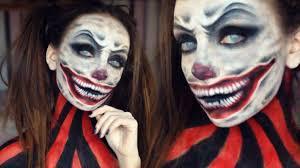 scary killer clown halloween makeup tutorial melania yaneva