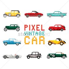 pixel car pixel art vintage car collection vector image 1987345