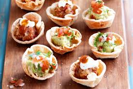 mini canape mini tortilla cups two ways