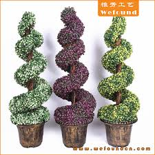 artificial ornamental plants boxwood topiary spiral tree for