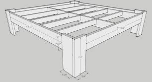 King Size Platform Storage Bed Plans by Diy Bed Frame Plans Handmade Pinterest Bed Frame Plans Bed