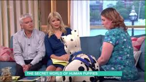 lucy and anna decinque before man who dresses up as a dog says it is not sexual or seedy tv