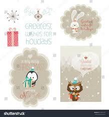 set christmas vector elements vintage banner stock vector