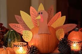 thanksgiving pumpkin turkey centerpiece craft preschool crafts for
