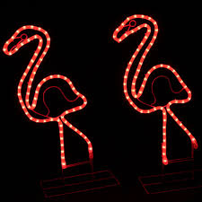palm tree neon light 2 lighted pink flamingo yard envy