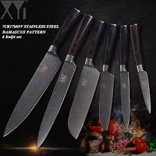 high carbon stainless steel kitchen knives xyj stainless steel kitchen knives 6 pcs set high carbon blade