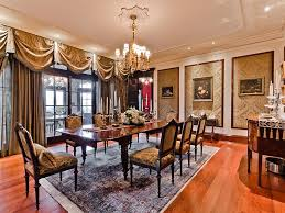 classic dining room interior design ideas with wood flooring and