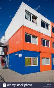 colourful prefab student housing in amsterdam north using modular