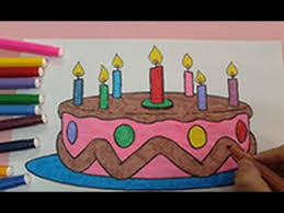 happy birthday coloring pages color cake coloring pages