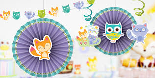 hanging baby shower decorations u0026 streamers party city