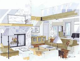 michelle morelan u0027s hybrid drawings for interior design sketchup blog