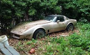 1981 corvette stingray 1981 corvette barn find is worth only 900 as a parts car