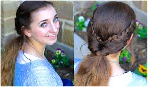braid flip combo easy hairstyles youtube