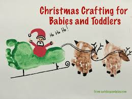 christmas crafting for 6 24 months eat sleep and play