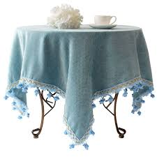 Cheap Table Cloths by Blue Mediterranean Garden Style European High Grade Linen