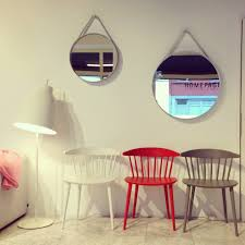 chairs j104 by hay 5 colors available strap mirror by hay 50