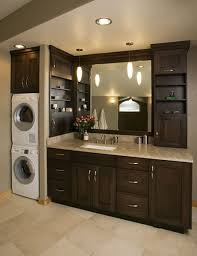 bathroom elegant stacked washer and dryer design ideas with