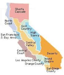 california map desert region index of 700 california cities gives region location links for