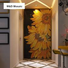 kitchen mural backsplash aliexpress com buy made custom mural wall sunflower