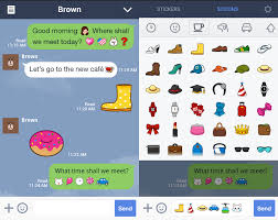 chat apps for android chat app line launches sticons on android
