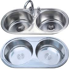 Double Bowl Round Kitchen Sink - Round sink kitchen