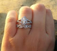 help with a matching wedding band for a marquise e ring