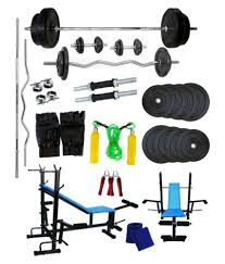 venom home gym with 100 kg weight plates dumbell rods straight