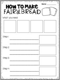 writing worksheet how to make bread procedure writing worksheet by miss