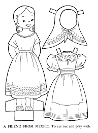 children lands coloring paper doll patterns