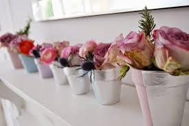 painted spring plant pots brick dust u0026 glitter