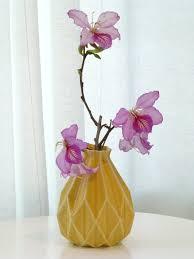 cermic gift geometric flower vase yellow ceramic flower