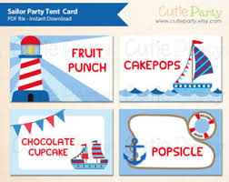 Tent Card Designs Nautical Tent Cards Etsy
