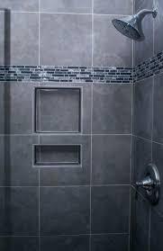 grey tiled bathroom ideas grey subway tile shower dsellman site