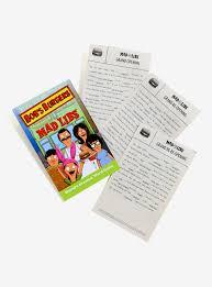 Printable Halloween Mad Libs by Bob U0027s Burgers Mad Libs Book Boxlunch