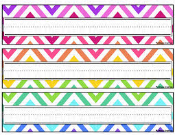 student name tags for desks johnson creations rainbow chevron desk name tags with regard to desk