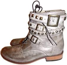 motorcycle booties 268 patron lula taupe leather riding biker boot studded moto