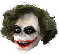 the joker child 3 4 mask with hair boys costumes kids