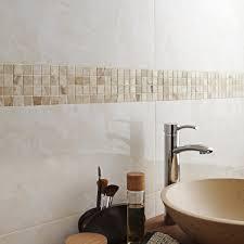 frise leroy merlin mosaïque sol et mur mineral marbre crème leroy merlin