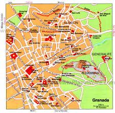 Seattle Downtown Attractions Map by Granada Map Tourist Attractions Southern Spain Pinterest