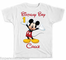 mickey mouse birthday shirt personalized disney mickey mouse birthday boy t shirt ebay