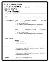 First Job Resume Template Free  first job resume template job