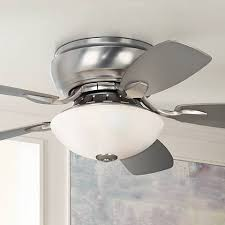 44 inch ceiling fan with light 44 casa habitat brushed steel hugger ceiling fan 00819 ls plus
