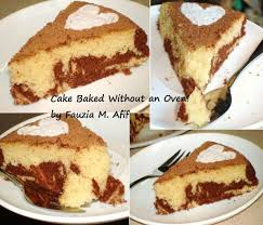 Toaster Oven Cake Recipes Marble Cake Baked Without Oven Fauzia U0027s Kitchen Fun