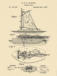 patent 1883 fishing boat fishing float sailboat down rigger