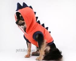 dog clothes for halloween dog costume dinosaur spikes orange fleece cute hoodie