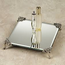 Bathroom Trays Vanity by Home Decor Mirrored Makeup Tray Silver Mirrored Vanity Tray